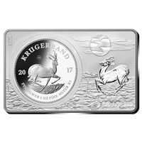 2017 1 oz Pure Silver Coin & 2 oz Pure Silver Bar 50TH ANNIVERSARY OF THE KRUGERRAND