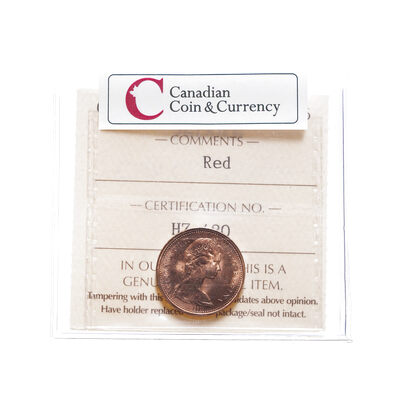 1 cent 1973 Colour: Red ICCS MS-65