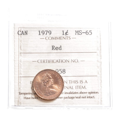 1 cent 1979 Red ICCS MS-65