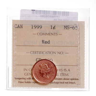 1 cent 1999  ICCS MS-65