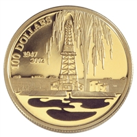 $100 2002 Gold Coin - Canada's Oil Industry