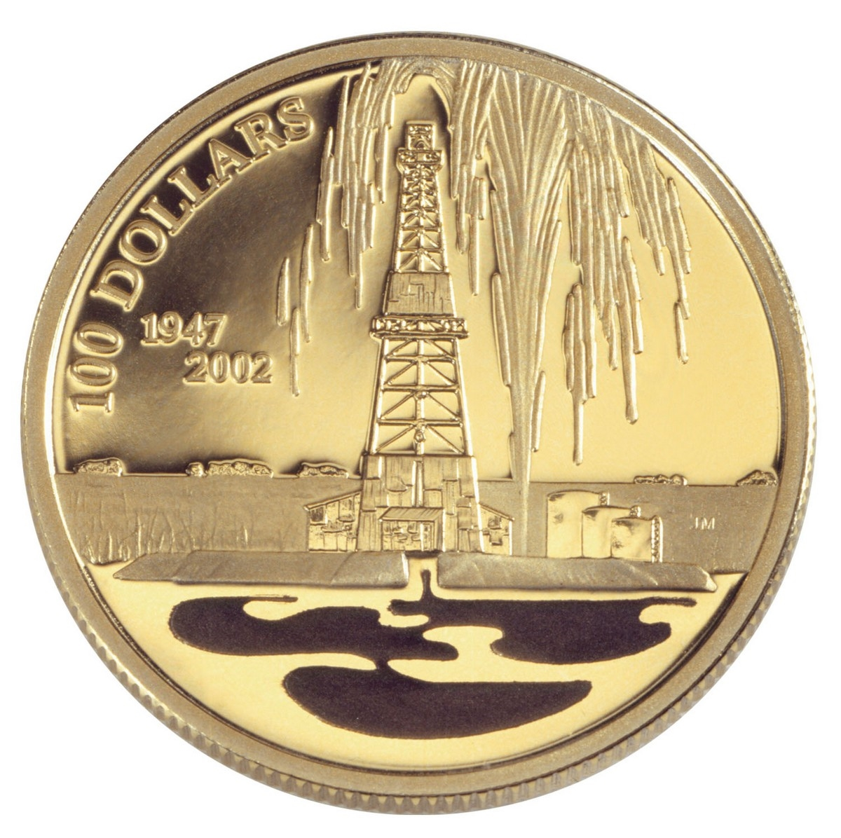 2002 $100 Canada's Oil Industry - Gold & Silver Coin