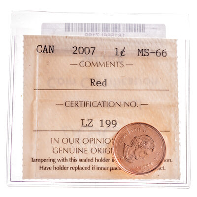 1 cent 2007  ICCS MS-66