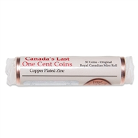 1 cent 2012 Copper Plated Zinc  - Single Roll