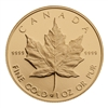 $50 1989 Fine Gold Maple Leaf Coin - 10th Anniversary Proof