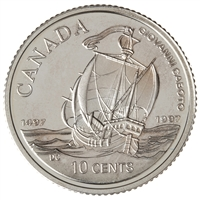 1997 10c Caboto's First Transatlantic Voyage, 500th Anniversary - Sterling Silver Coin