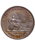 Prov. Of Canada 1 Penny Token 1852 PC-4 AU-53