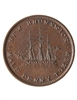 NB 1/2 Penny Token 1843 NB-1A2 EF-45