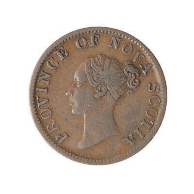 NS 1/2 Penny Token 1840 NS-1E2 EF-40