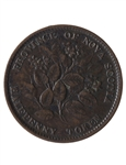NS 1/2 Penny Token 1856 NS-5A1 EF-40