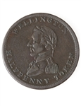 Lower Canada Wellington 1/2 Penny Token WE-8A3 VF-35