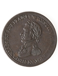 Lower Canada Wellington 1/2 Penny Token WE-11C2 EF-40