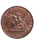 Prov. Of Canada 1/2 Penny Token 1850 PC-5A MS-60