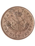 Prov. Of Canada 1/2 Penny Token 1852 PC-5B1 EF-45