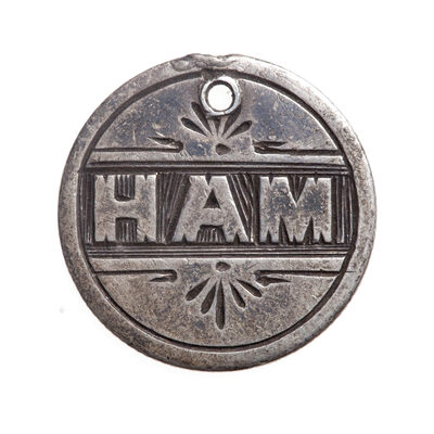 "Love Token - ""HAM"" on a Victorian .925 silver 10c host coin"