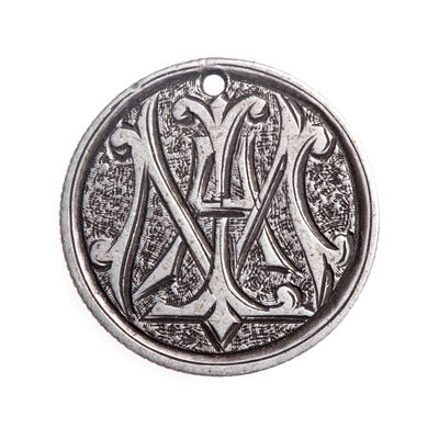 "Love Token - ""Ma"" on a Victorian .925 silver 10c host coin"