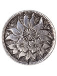 Love Token - Ornate flowers on a Victorian .05 silver host coin