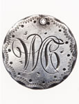 "Love Token - ""W.C."" on a Victorian .05 silver host coin"