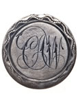 "Love Token - ""C.W."" on a Victorian .05 silver host coin"