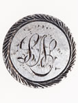 "Love Token - ""P.S."" (?) on a Victorian .05 silver host coin"
