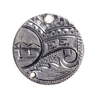 "Love Token - ""Dee"" on a Victorian .925 silver 10c host coin"