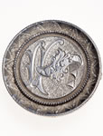 "Love Token - ""Vince"" on a Victorian .25 host coin, with mounting pin"