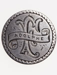 "Love Token - ""Adolphe F."" on A Victorian .25 host coin"