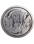 "Love Token - ""G.M."" on a Victorian .25 host coin"