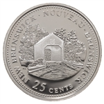25c 1992 125th Anniversary of Canada Silver Proof - New Brunswick