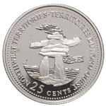 25c 1992 125th Anniversary of Canada Silver Proof - North West Territories