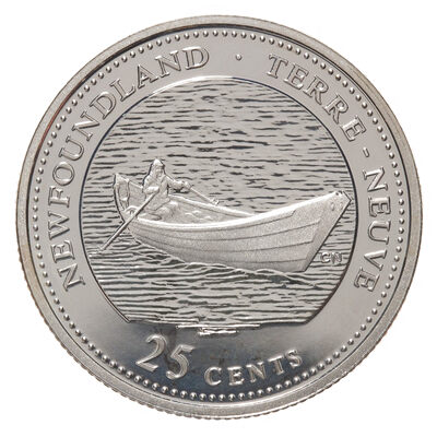 25c 1992 125th Anniversary of Canada Silver Proof - Newfoundland