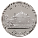 25c 1992 125th Anniversary of Canada Silver Proof - Manitoba