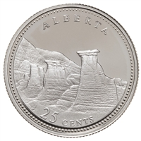25c 1992 125th Anniversary of Canada Silver Proof - Alberta