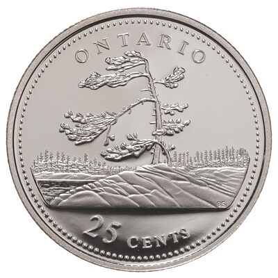 25c 1992 125th Anniversary of Canada Silver Proof - Ontario