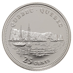 25c 1992 125th Anniversary of Canada Silver Proof - Quebec