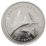 25c 1992 125th Anniversary of Canada Silver Proof - Saskatchewan