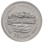 25c 1992 125th Anniversary of Canada Silver Proof - British Columbia
