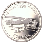 25c 1999 Millennium Proof Sterling Silver - November, The Airplane Opens the North