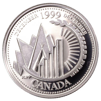 25c 1999 Millennium Proof Sterling Silver - December, This is Canada