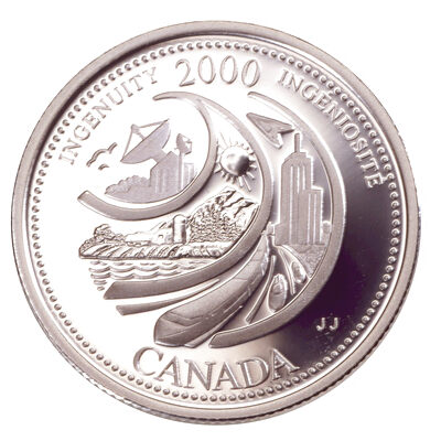 25c 2000 Millennium Silver Proof - February, Ingenuity