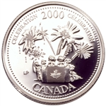 25c 2000 Millennium Silver Proof - July, Celebration