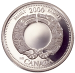 25c 2000 Millennium Silver Proof - August, Family