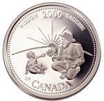 25c 2000 Millennium Silver Proof - September, Wisdom
