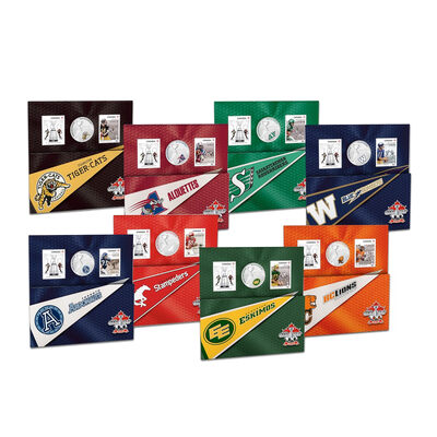 2012 25c Canadian Football League (CFL) 8-Coin Set