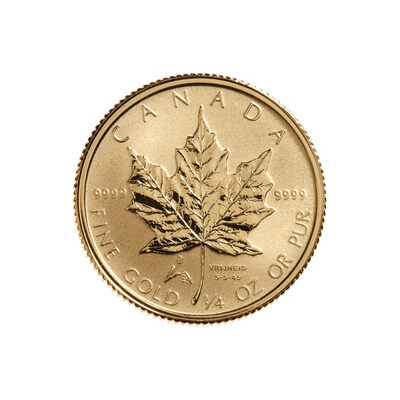 $10 2005 1/4 oz Fine Gold Maple Leaf - Liberation Privy Mark