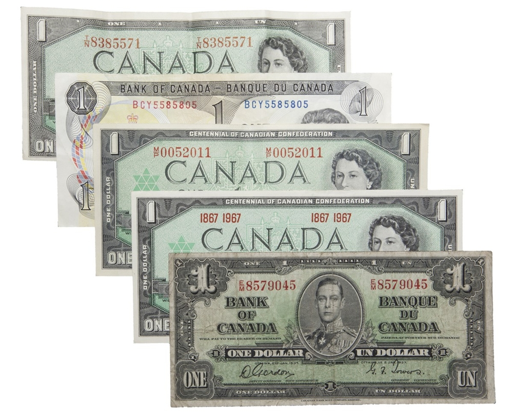 One Dollar Bill Collection  Notes