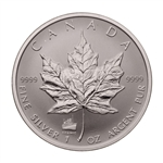 $5 1998 1 oz Fine Silver Maple Leaf Coin - Titanic Privy Mark