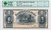 $1 1898 Dominion of Canada Unique 13 Piece Note Development Collection
