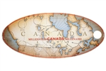 1999 Map of Canada - Millenium Quarter Collector Coin Board
