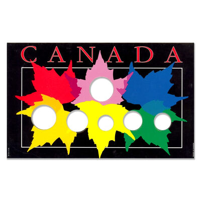 1987-Present Canadian Year Set Maple Leaves Collector Coin Board